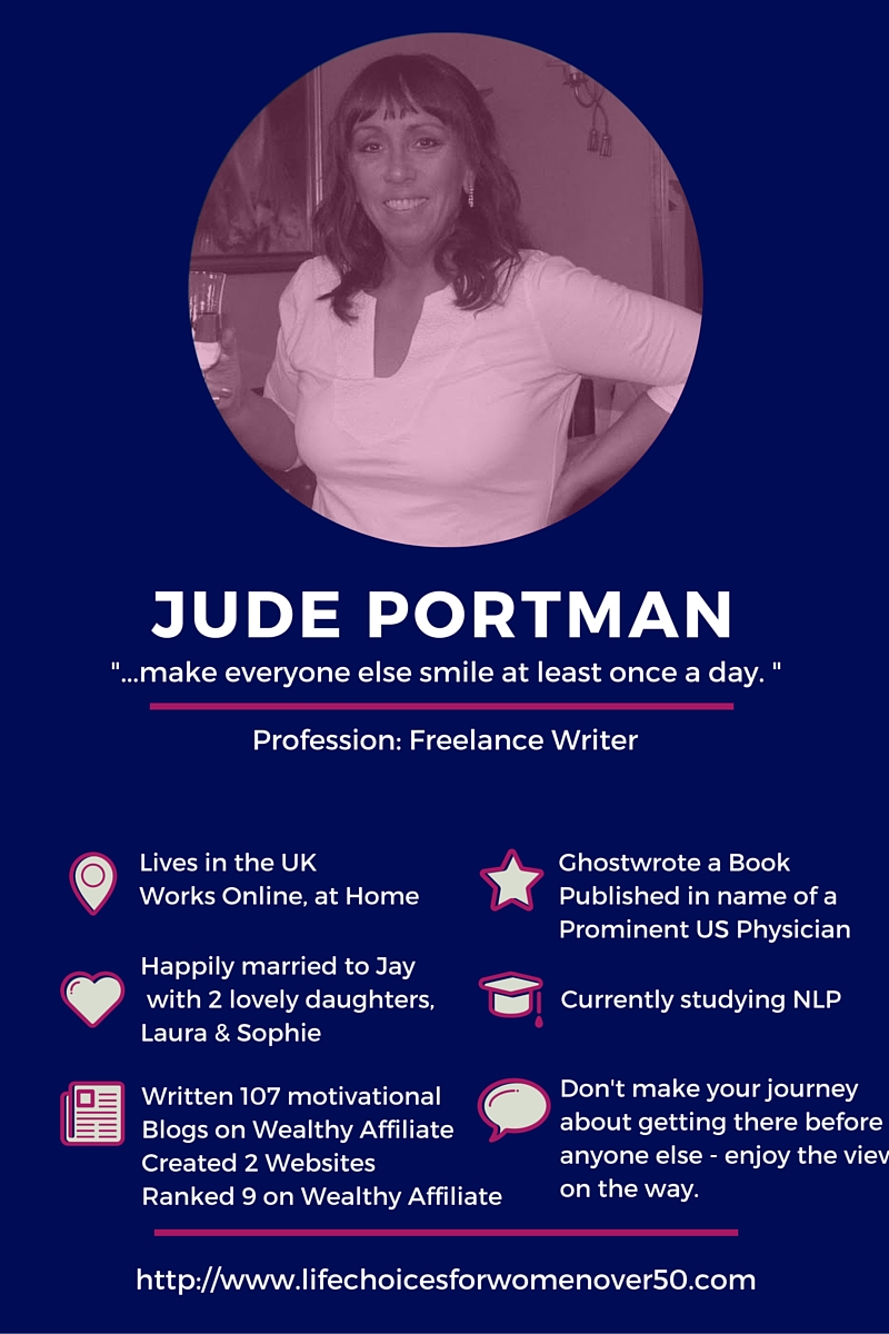 Meet Jude Portman, Oustanding Copywriter. Click to see all our Featured Mompreneurs.