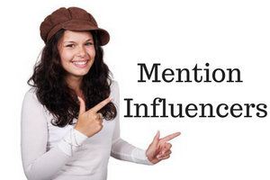 Mention Influencers on Twitter, Google Plus or Instagram