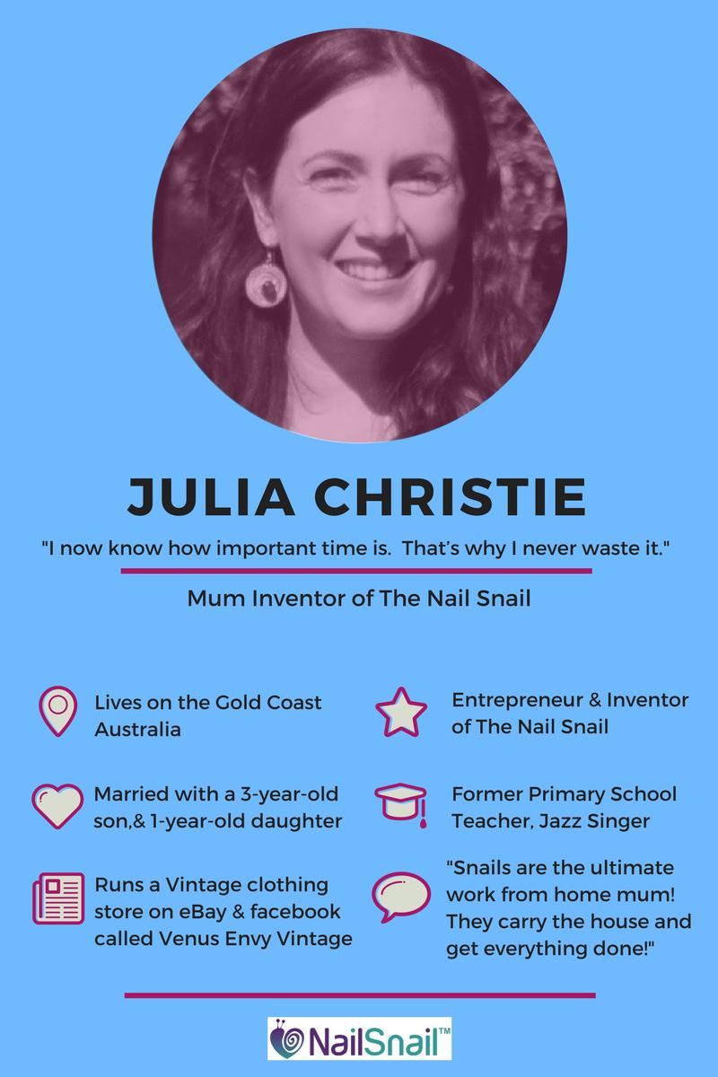 Julia Christie Nail Snail inspiringmompreneurs
