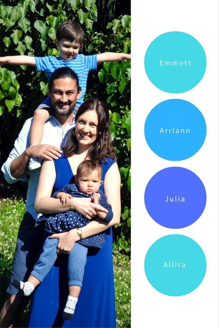 Julia Christie and Family inspiringmompreneurs.com
