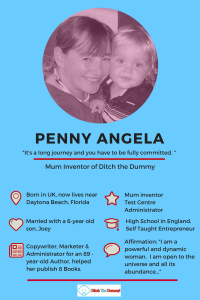 Meet Penny Angela Mum Inventor of Ditch the Dummy