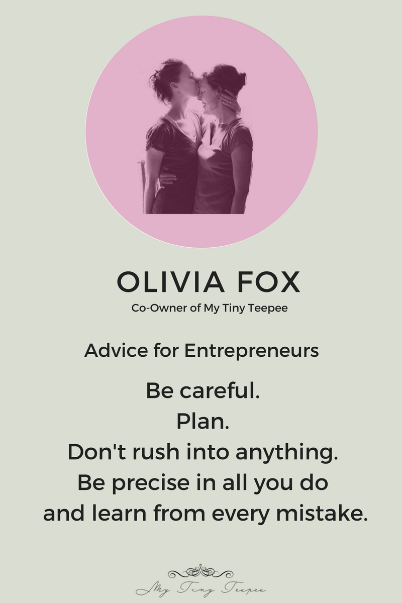 Olivia Fox Advice for Entrepreneurs