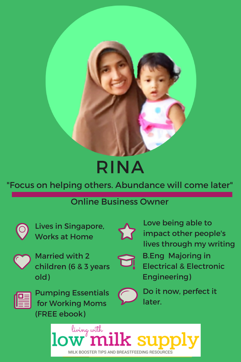 Meet Rina of Living with Low Milk Supply