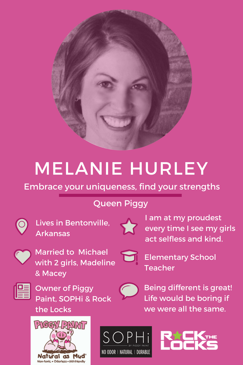 Meet Melanie Hurley, inventor of Piggy Paint Natural, Non Toxic Nail Polish for kids. Click to read interview or pin for later.