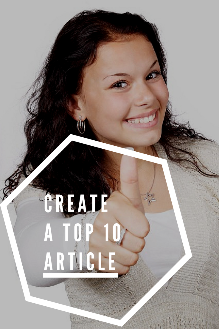 Create a Top 10 Article