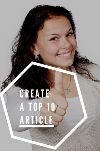 Create a Top 10 Article