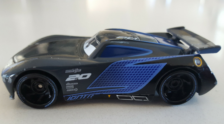 Disney Pixar Jackson Storm Diecast Car - ours already looks well used!