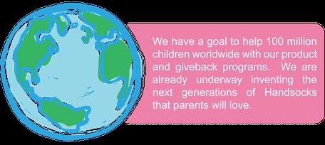 Handsocks Mission and Give-back Program. A Portion of all Handsocks go to Orphans Promise.