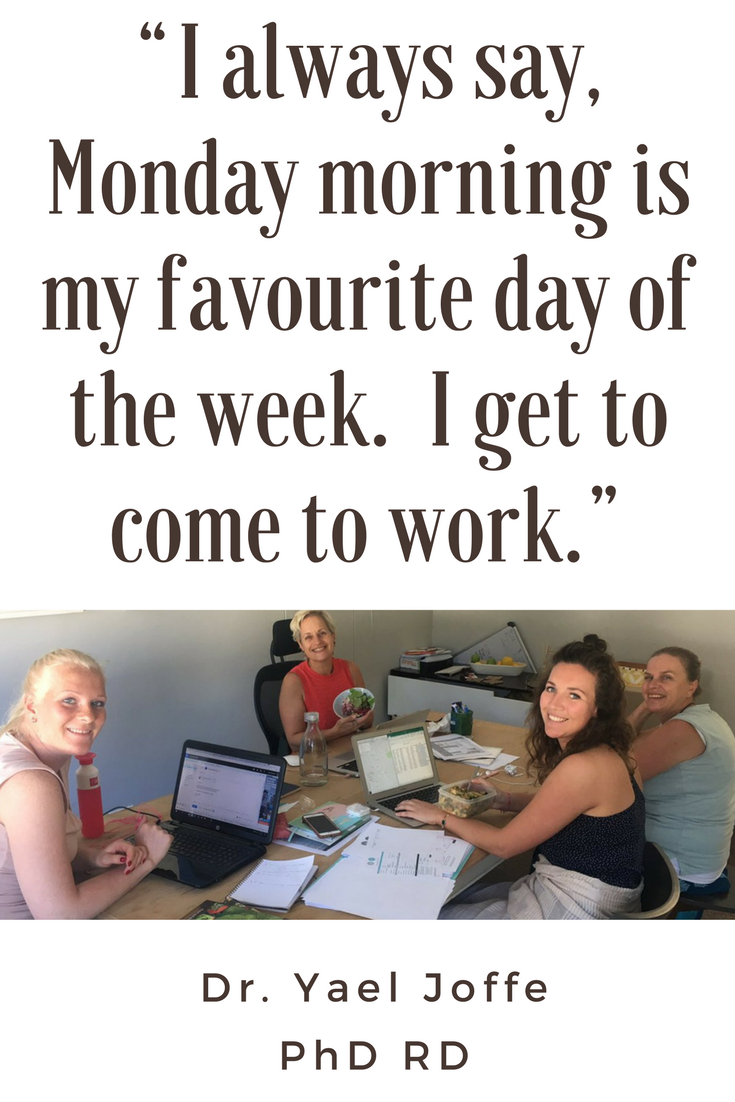 """So clichéd, but really, if you can find work that's meaningful then Monday morning can be your best day of the week."" #dowhatyoulove"