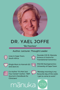 Meet Yael Joffe PhD RD, Author and Thought Leader in the Field of Translational Nutrigenomics