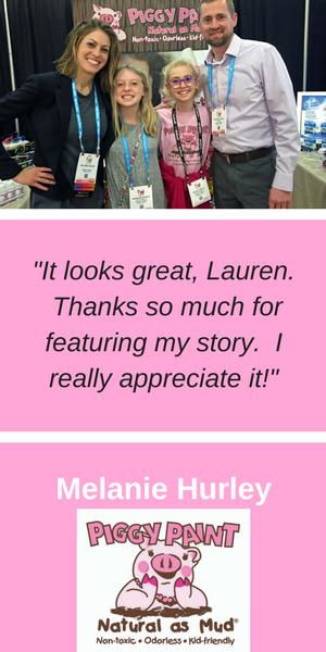 Inspiring Mompreneurs Testimonial Melanie Hurley of Piggy Paint