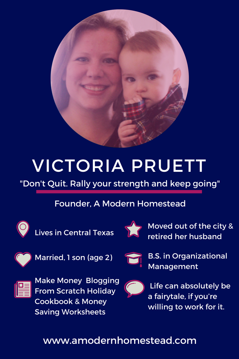 Victoria Pruett just retired her husband. Here's how she did it. And how you can too.
