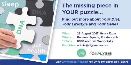 "Calling all Capetonians. 2 Tickets up for Grabs to ""The Missing Piece in YOUR Puzzle"" Event."