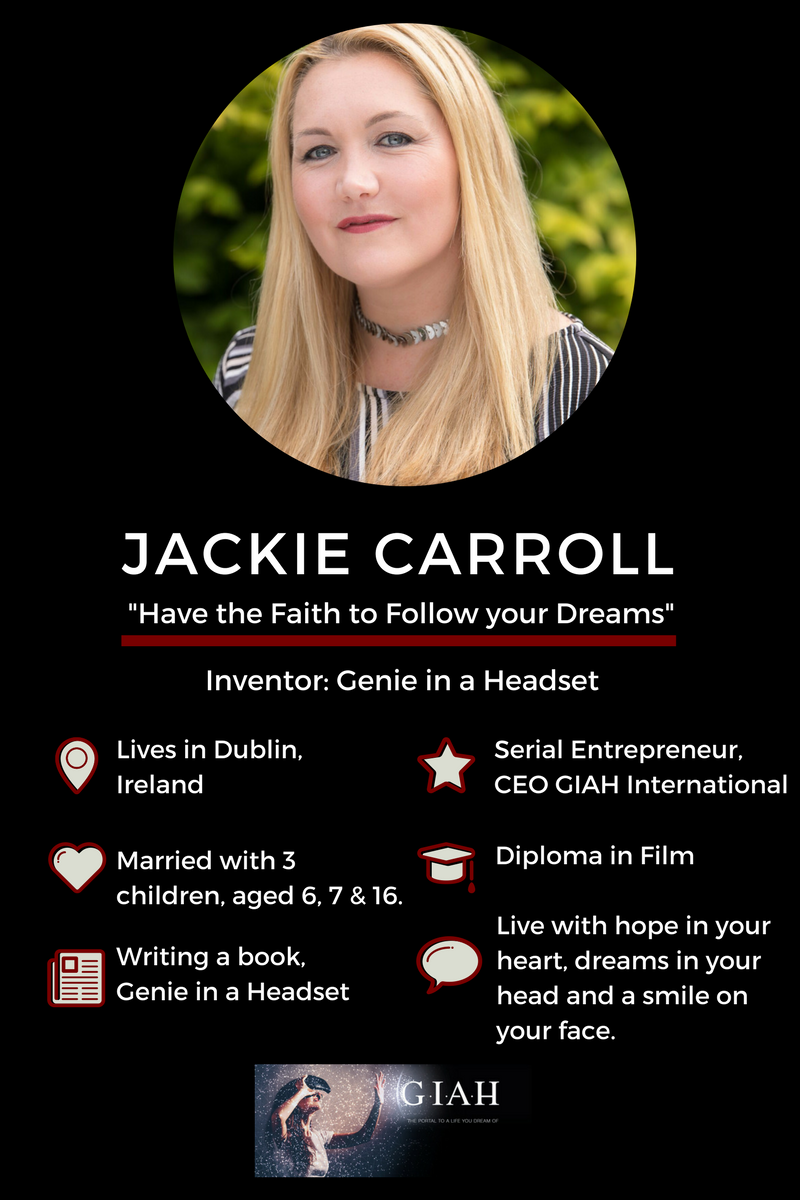 Jackie Carroll is Mom Inventor of Genie in a Headset. She's about to launch the Beta Version of her Course, Visualization to Realization Join us now. | howtovisualization | howtovisualize | visualizationtorealization