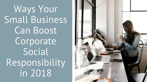 What are you doing about Corporate Social Responsibility in 2018? inspiringmompreneurs.com