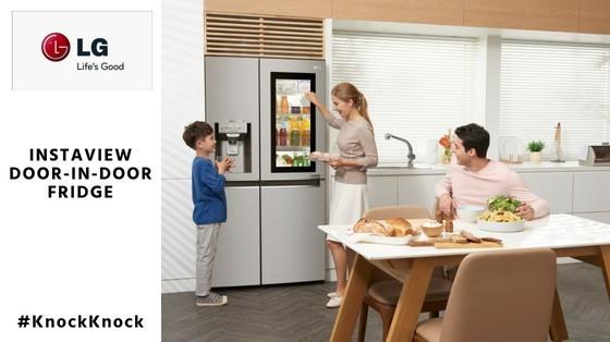 LG Instaview Door Door Refrigerator inspiringmompreneurs.com