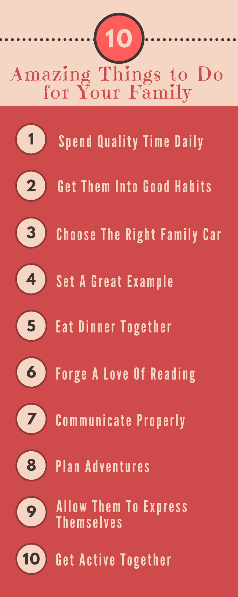 Enjoyed this list? Read deeper and find 5 more amazing things to do for your family on inspiringmompreneurs. #thingstodoforyourfamily
