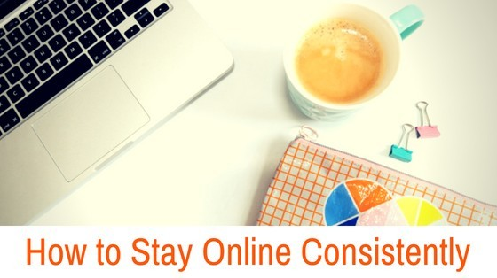 How to Stay Online Consistently inspiringmompreneurs.com