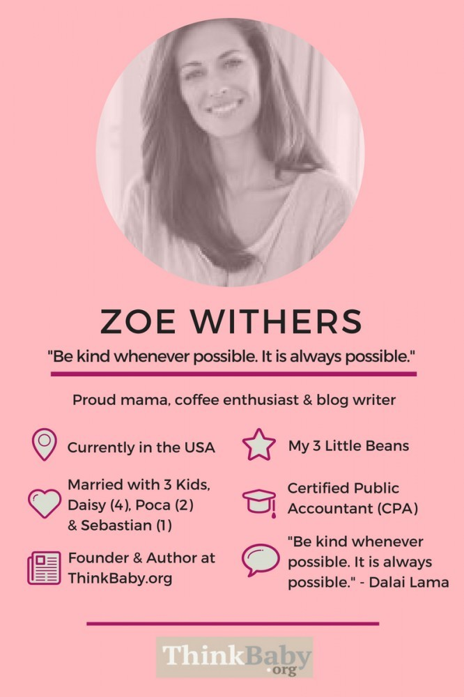 Meet Freelance Writer, Zoe Withers, one of the Founders of ThinkBaby.org - where you can find awesome baby advice for new parents. As Featured on InspiringMompreneurs. #babyadvicenewparents