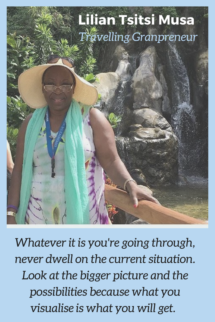 Meet Lilian Tsitsi Musa - Travelling Granpreneur. An intrepid Entrepreneur who refuses to give up no matter what life throws at her. #WorldVenturesDreamVacations
