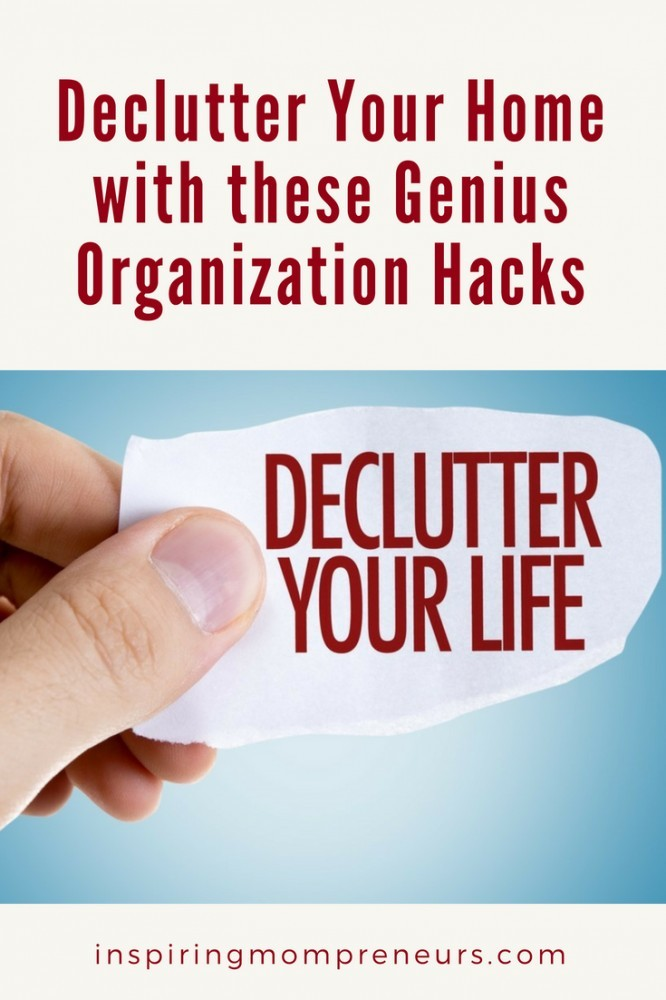 As we live our lives, we accumulate a lot of... Stuff. And if you're like most people, that stuff just collects and collects and collects. Stop living that hoarder life and try these genius organization hacks because they'll help to declutter your home in no time. #DeclutterYourHome