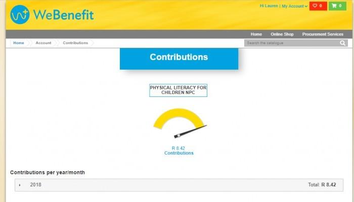 We Benefit Contribution