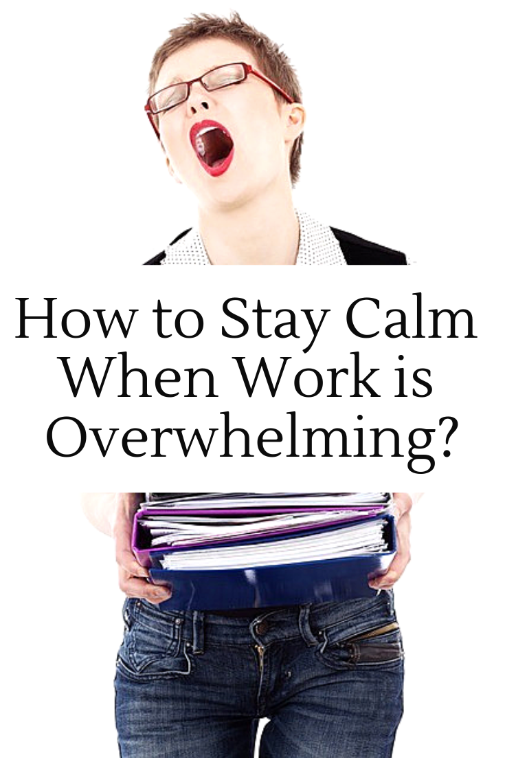 Are you in overdrive and overwhelm? Try out these 5 awesome tips in this guest post by Freelance Writer, Amelia Evans. #HowtoStayCalm #HowtoStayCalmatWork