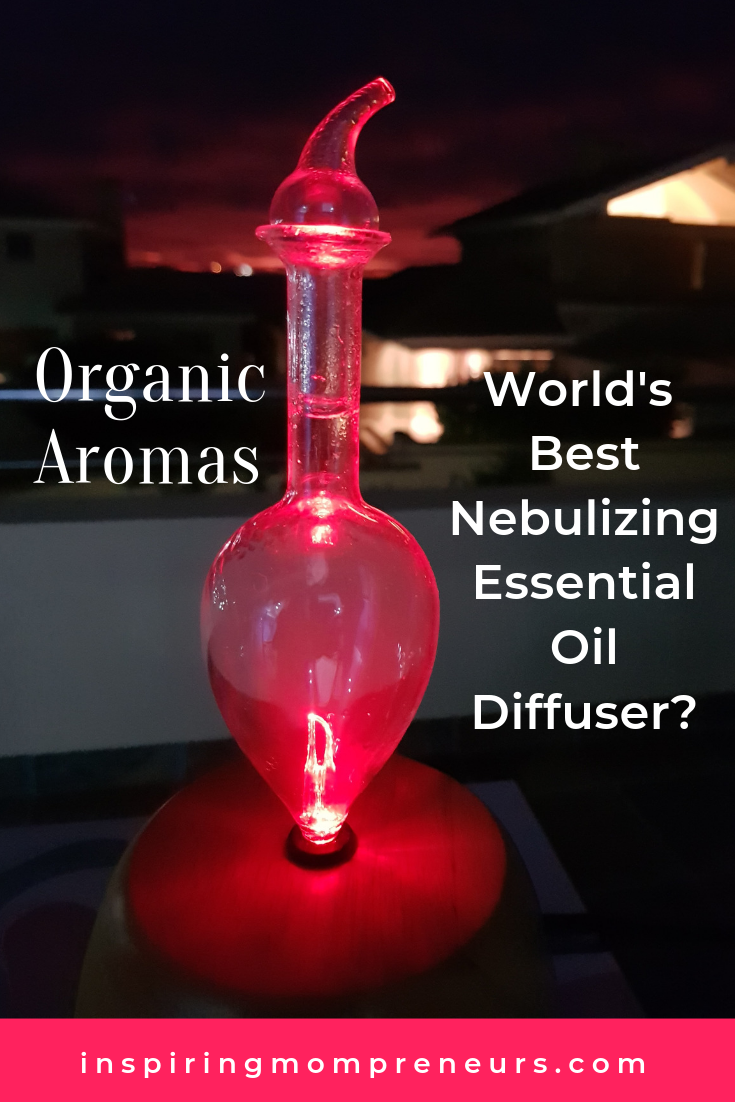 Organic Aromas claims to offer the world's best nebulizing essential oil diffuser. And I agree. It's stunning! Here's my review. #organicaromas #bestnebulizingessentialoildiffuser
