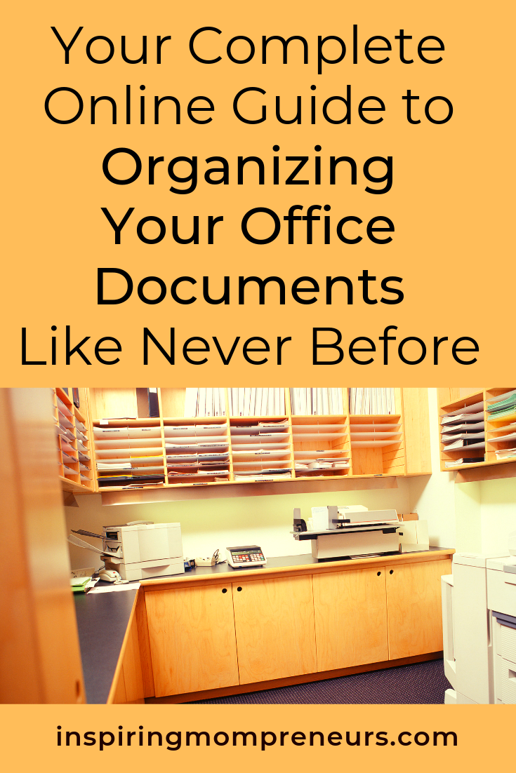 If you were to be audited would it be a mad scramble for paperwork or are your documents in order?  Here's how to get so organised nothing scares you. #organizingyourofficedocuments