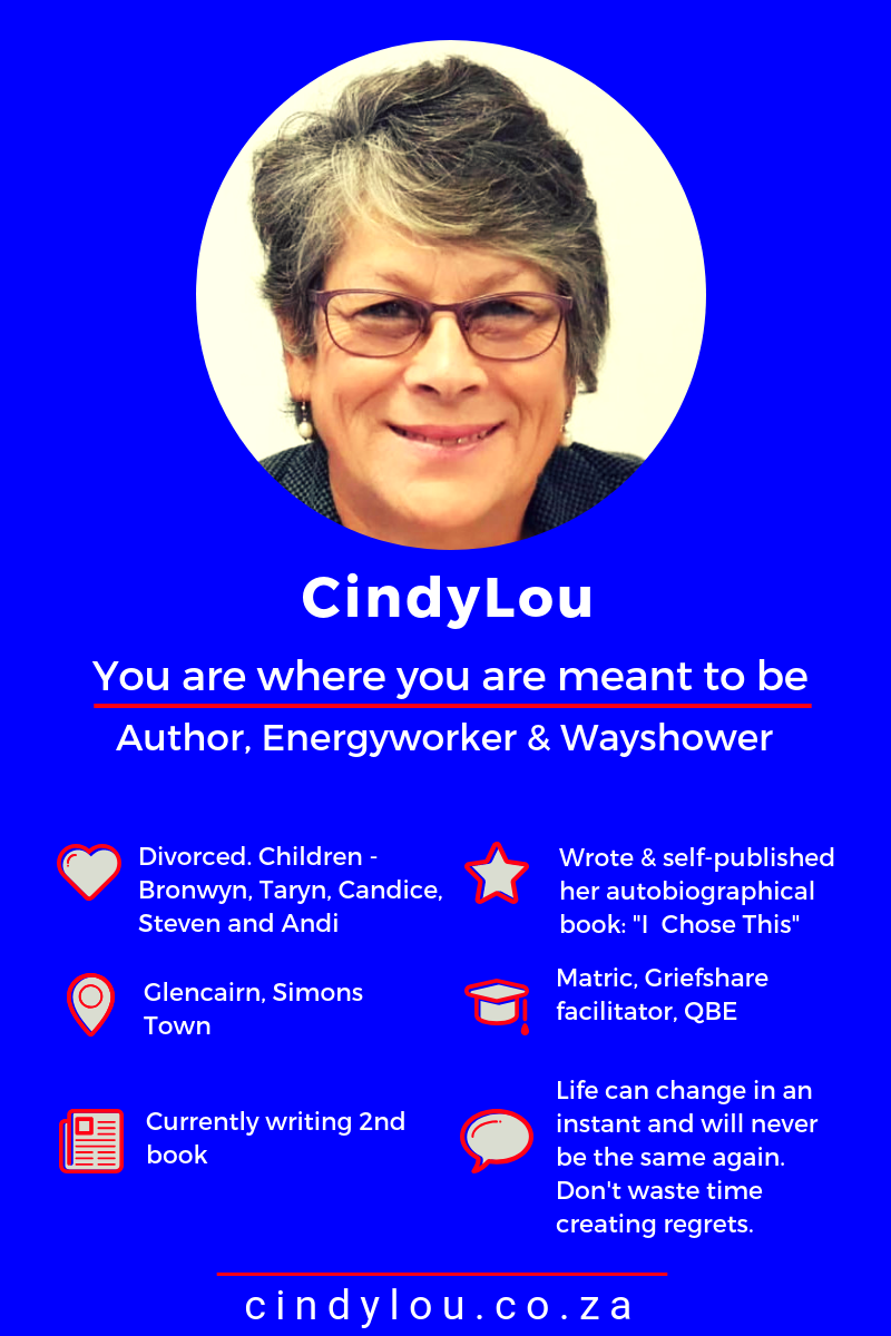 "CindyLou lost 3 children. In her inspirational book, ""I Chose This!"" Cindy shares her painful journey and how she found her way back from grief and loss. #HowtoDealtheLossofaLovedOne #IChoseThis #FeaturedMompreneur #AuthorInterview #IndieAuthor #Autobiography"