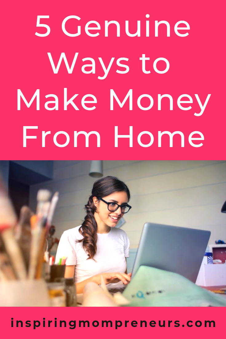 Are you looking for ways to work from home? Here are our top 5 non-scammy ways.  #5genuinewaystomakemoneyfromhome  #workathome #workathomemom #wahm