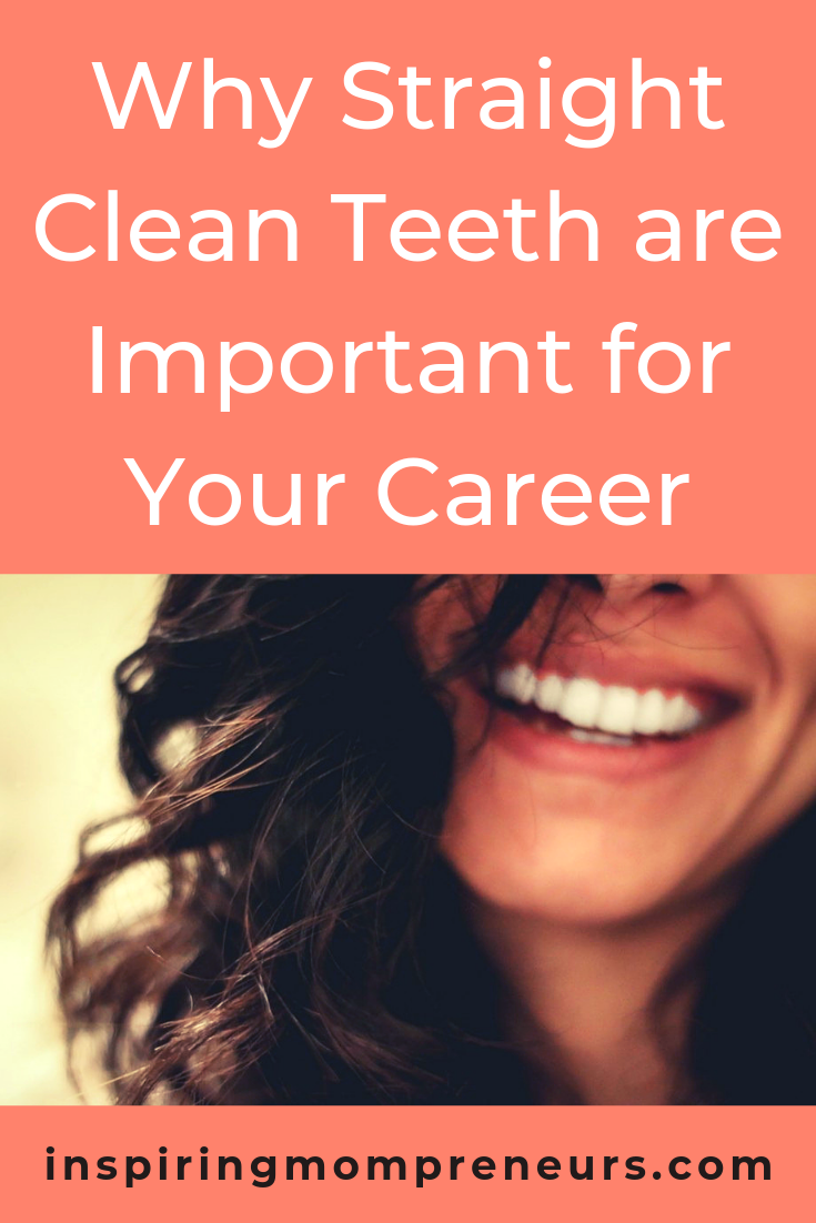 Having straight clean teeth gives you a winning smile, which boosts your confidence (and may even land you your next position). Read more at Inspiring Mompreneurs. #whyiscleaningteethimportant #dentistry #healthandwellness #careertips