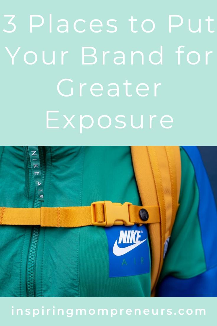 Looking for more exposure for your brand? Try these 3 places. Smart, simple, effective.   #brandexposure #branding #brandingideas  #placestoputyourbrandforgreaterexposure