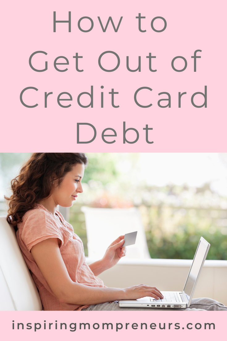 The problem with credit cards is how easy it is to spend money with them. Here are 5 strategies to help you get out of credit card debt. #HowGetOutofCreditCardDebt #affirmations #afformations #personalfinance #financialliteracy #SponsoredPost #ColonyAssociates