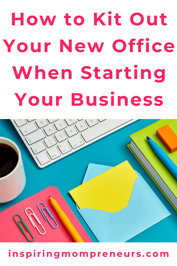 Follow these tips to professionally kit out your new office when you're starting your business to separate the must-haves from the can-waits. #howtokitoutyournewoffice #homeoffice #officeequipment #officesupplies #entrepreneurship