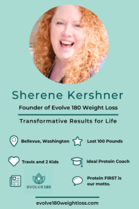 Meet Sherene Kershner, the Founder of Evolve 180 Weight Loss. Sherene lost 100 pounds herself and has since guided over 1700 clients on their own weight loss success. Here's her inspirational interview. #Evolve180WeightLoss #Inspiration #MompreneurInterview #InspiringMompreneur