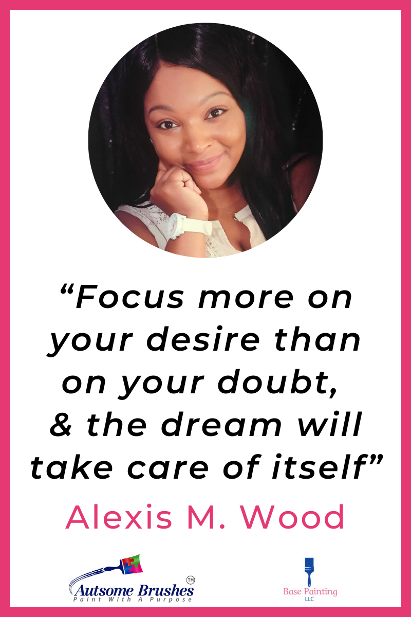 Meet Alexis Wood, CEO and Co-Owner of Base Painting LLC and Autsome Brushes, which supports Autism Awareness. From teen Mom to successful business owner, Alexis has turned tragedy into triumph. #AutsomeBrushes #AutismAwareness #BasePaintingLLC #TeenMom #Interview #FeaturedMompreneur #InspiringMompreneurs