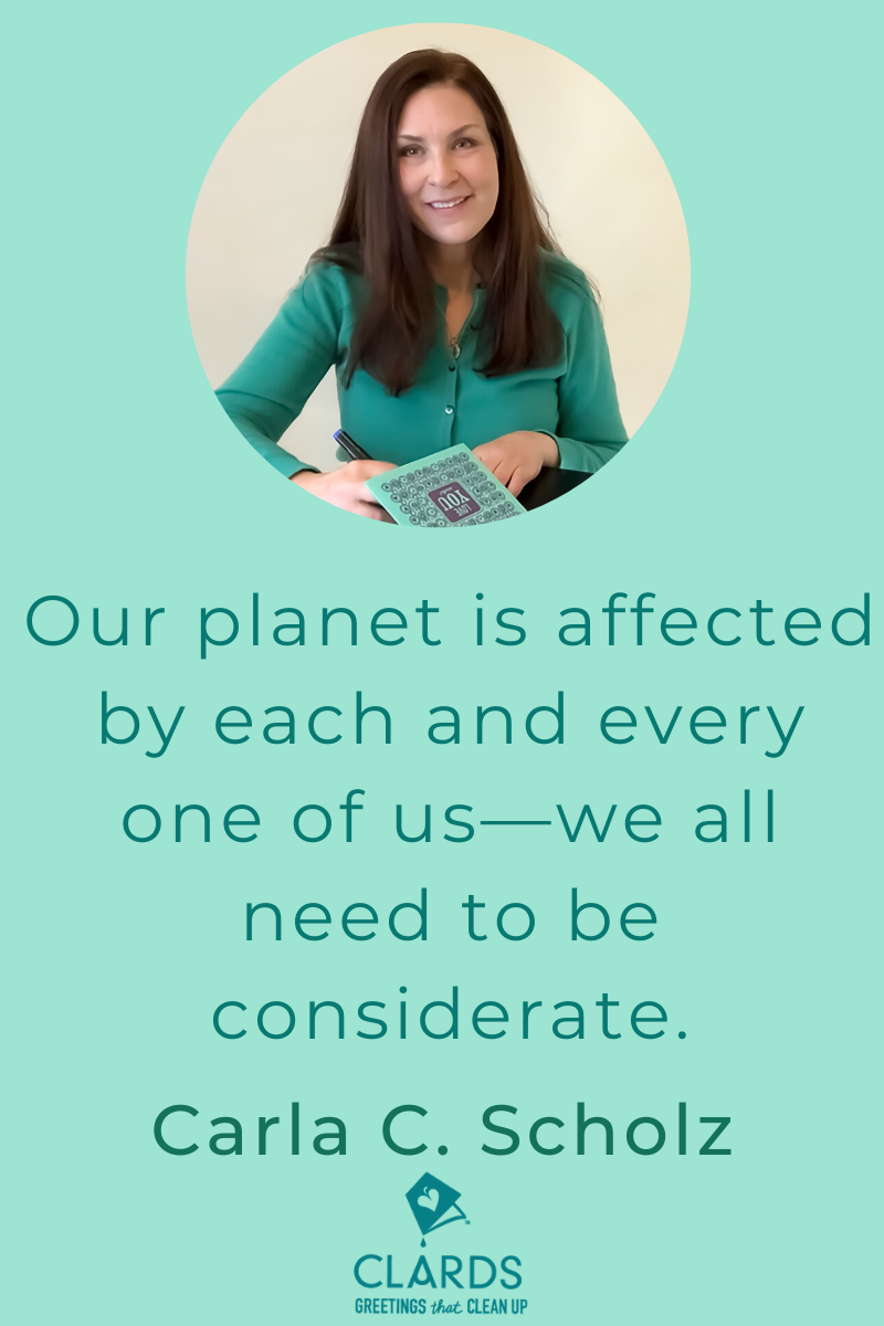 Meet Carla Scholz, Inventor of CLARDS reusable greeting cards that clean up (literally) and find out how you can pledge your support on Kickstarter. #clards #reusablegreetingcards #reusablecleaningcloths #clevercompostablecleaning #soakitupcloths # mominventor #mominventorinterview #kickstarter