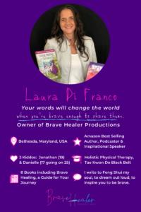 Meet Laura Di Franco, Author of 8 Books, including 4 Amazon Best Sellers. #AmazonBestSellers #AuthorInterview #InspiringMompreneurs #BraveHealer