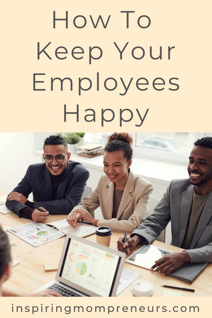 The happier your employees are, the more successful your business will be. If they feel appreciated they are more motivated to be productive. Here are simple ways to show your staff you care. #howtokeepyouremployeeshappy #employeesatisfaction #employeeincentives #employeemotivation