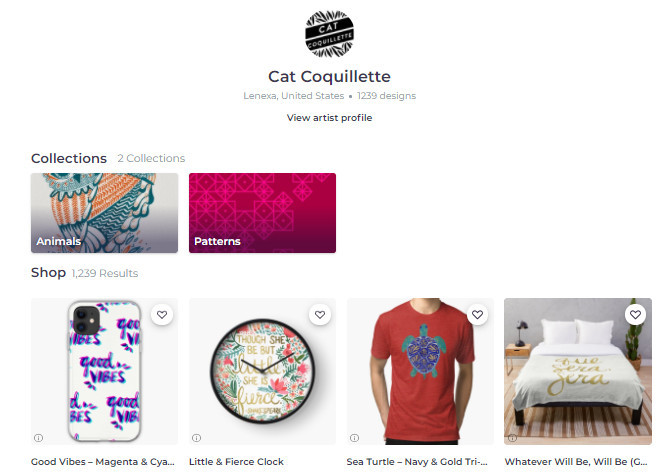 Cat Coquillette's Best-Sellers on RedBubble