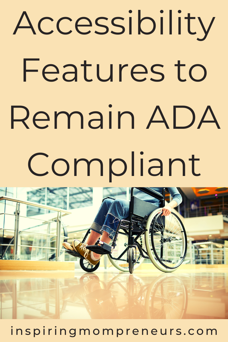 Do you own or lease a commercial building in the USA? Do you know whether your building is compliant with the Americans with Disabilities Act? Here's a checklist of 6 accessibility features to remain ADA compliant. #accessibilityfeatures #commercialbuilding #ADAcompliant #ADAcompliance #AmericanswithDisabilitiesAct #accessibility #disability #disabilities