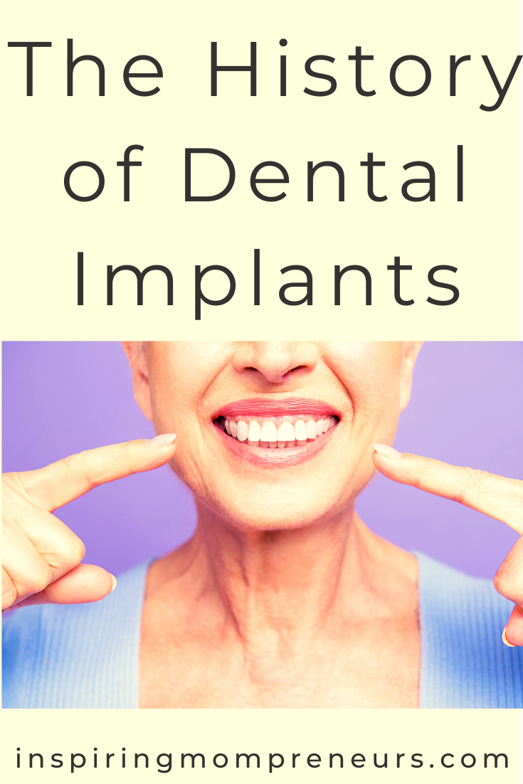 Feeling some anxiety or fear coming up around having a dental implant? A brief look into the history of dental implants might help calm those nerves. #history #dentalimplants #selfcare #dentalcare