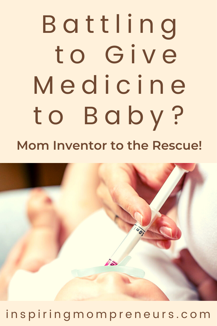 Do you have a baby who refuses to take medicine? Then you'll be relieved and grateful to discover Dora Dyk has a solution for you, her invention MEDAPTI. #howto #givemedicinetobaby #momstruggles #mominvented #solutionsformoms