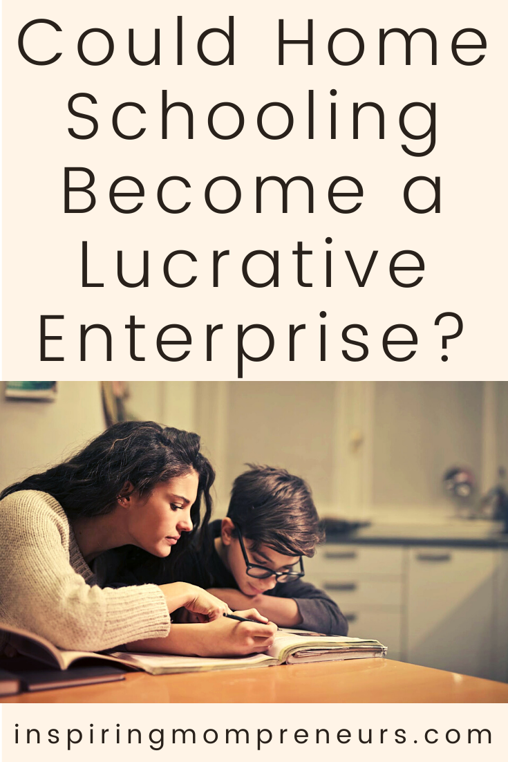 Here are some ways in which Mompreneurs can turn home schooling their kids into a lucrative side hustle. #homeschooling #lucrative #enterprise