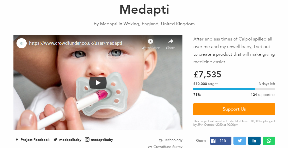Medapti Crowdfunder Campaign 2020 - 3 days left
