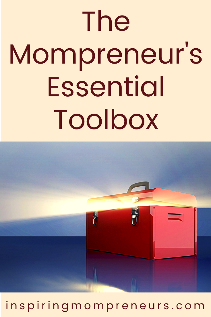 Which essential tools can't you live without as a Mompreneur?  Here's a shortlist of essential tools we're pretty sure all Mom Entrepreneurs have in common. #mompreneurtools #mompreneurs #essentialtoolbox