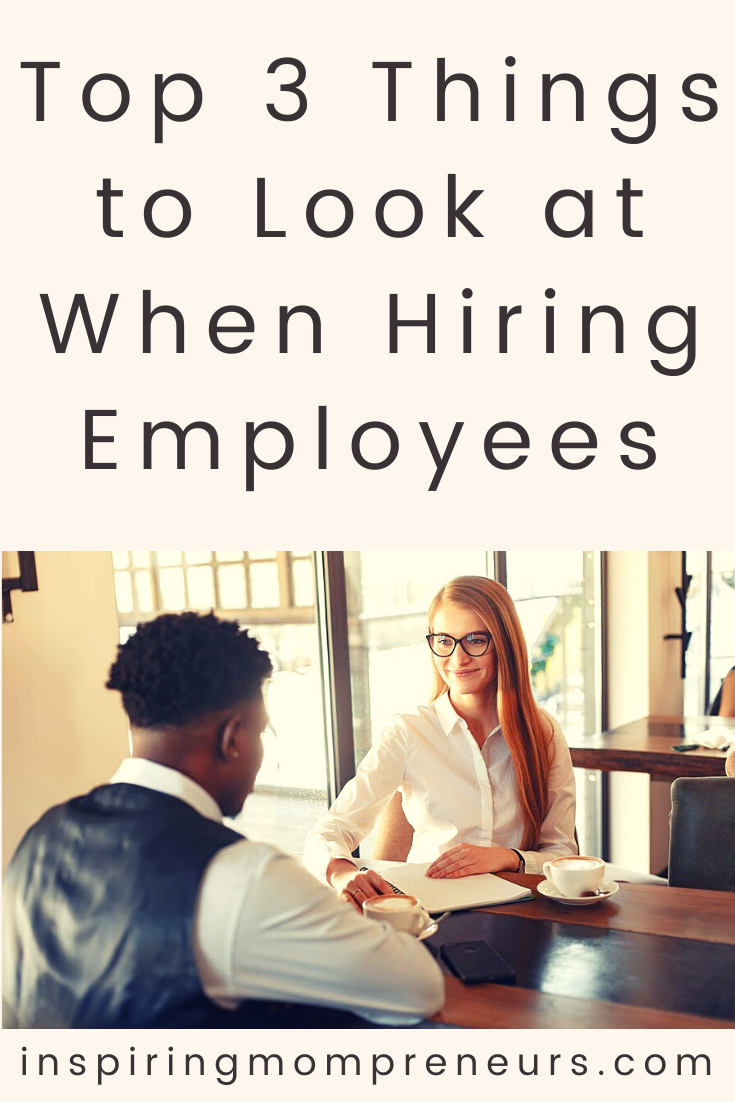 Advice for anyone that's hiring new employees - or planning to do so in the future. Focus on these three factors when making your decisions.  #top3things #whenhiringemployees #businessexpansion