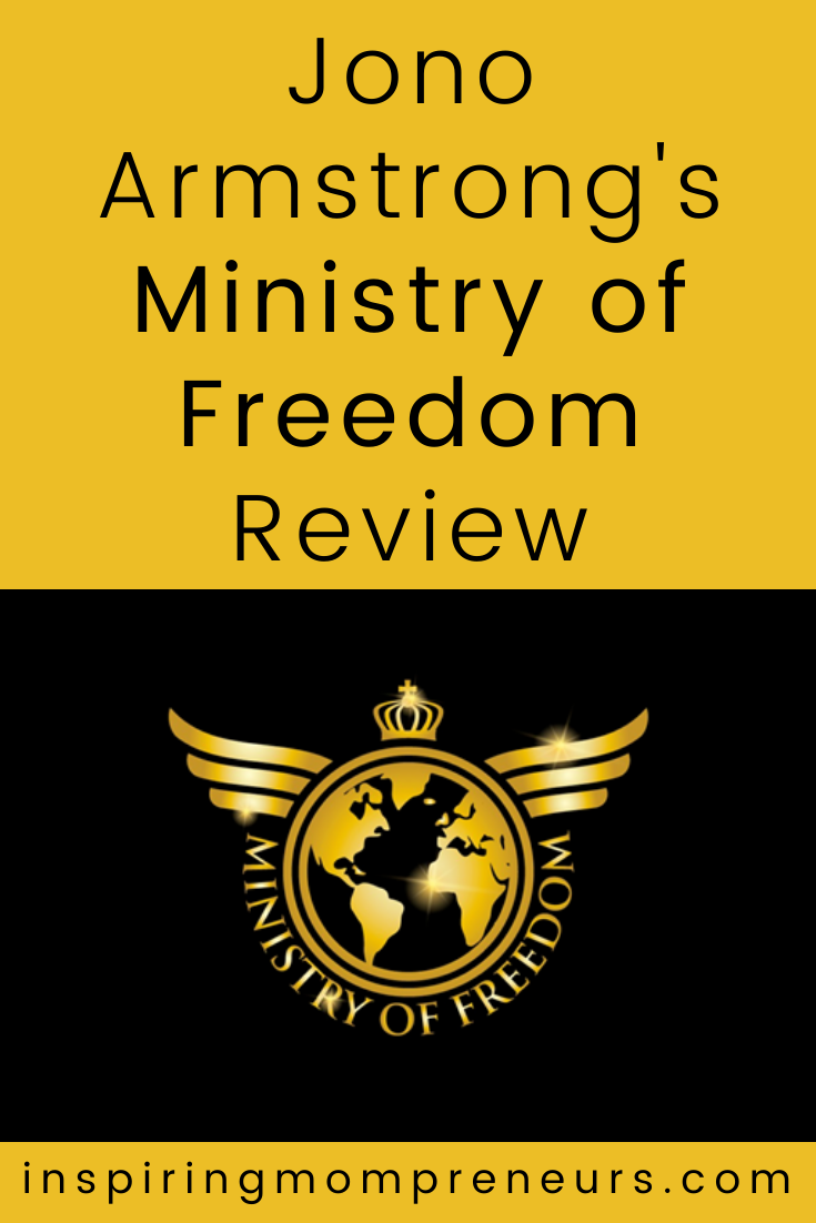 Reviewing Jono Armstrong's Ministry Of Freedom, a 9-week coaching program designed to take from 0 to 7-figures in income as an affiliate marketer.