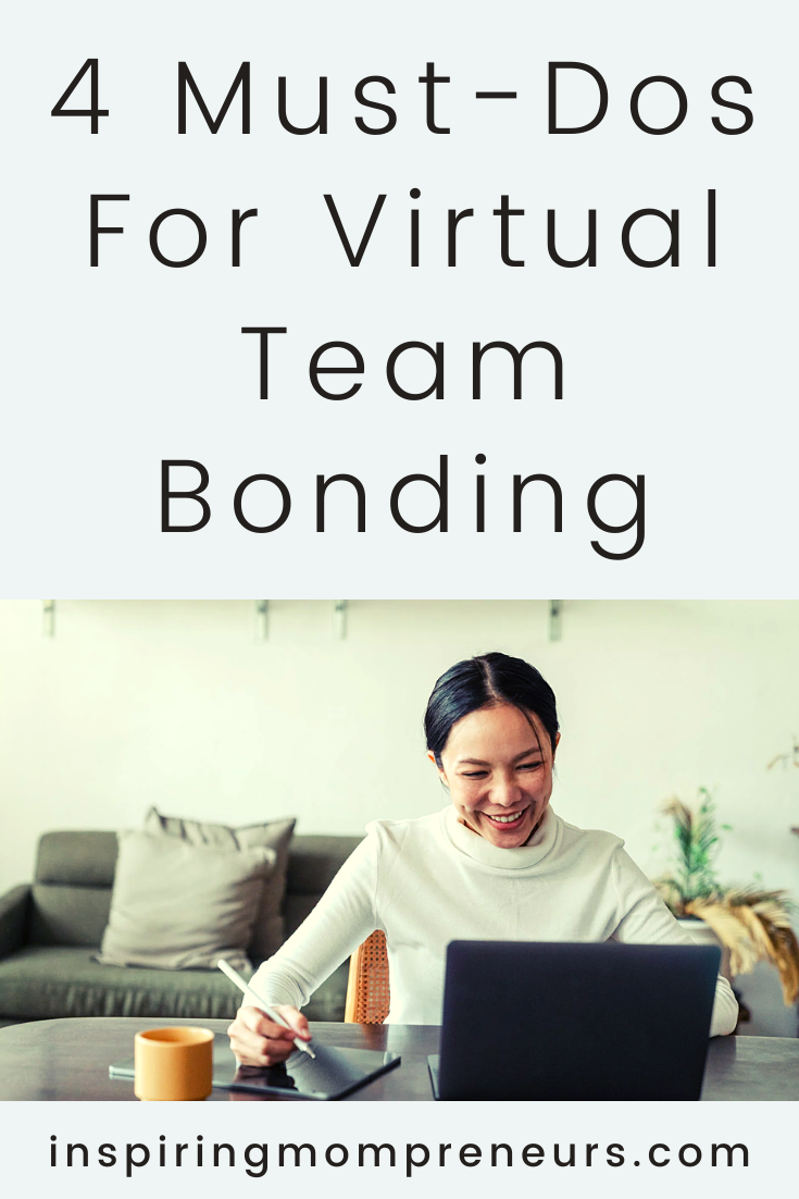 As more and more of us work from home, remotely, team bonding also happens virtually.  Here are some tips to ensure morale remains high amongst your team.  #virtualteambonding